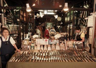 Couteaux au Marché aux poissons de Tsukiji