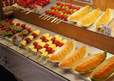 Brochette de fruits Marché aux poissons de Tsukiji