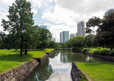 Cour d'eau du Les jardins de Hama-Rikyu